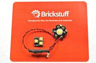Brickstuff High-Power Warm White LED for the Brickstuff LEGO® Lighting System - LEAF01H-WW-1PK