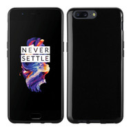 InventCase Premium TPU Gel Case Cover Skin for the OnePlus 5 2017 - Black