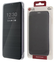 Genuine Official LG G6 Quick Cover Clear View Flip Case Cover Wallet - Black (CFV-300)