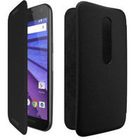 New Genuine Motorola Flip Case for Moto G 3rd Generation 2015 - Charcoal Black