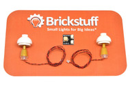 """Brickstuff Gold Table Lamps (2-Pack) with 12"""" Cables and Connecting Adapter- QK9-GO"""