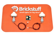 """Brickstuff Grey Table Lamps (2-Pack) with 12"""" Cables and Connecting Adapter- QK9-GR"""