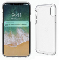 Cygnett Stealth Shield Slimline Protective Case Cover for Apple iPhone X - Crystal Clear  - CY2228CPSTE