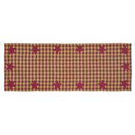 Burgundy Star Runner Woven 13x36
