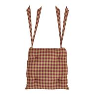 Burgundy Check Chair Pad 15x15