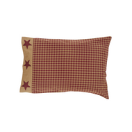 Ninepatch Star Pillow Case w/Applique Border Set of 2 21x30