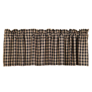 Bingham Star Valance Plaid Lined 16x72