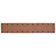Burgundy Star Runner Woven 13x72