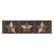 Farmhouse Star Runner Quilted 13x48