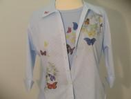 Butterfly Shoulder 3/4 Sleeve Shirt