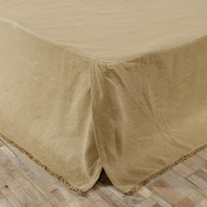 Burlap Natural Fringed Twin Bed Skirt 39x76x16