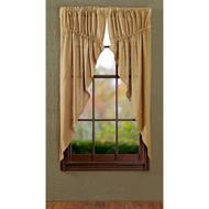 Burlap Natural Prairie Curtain Set of 2 63x36x18