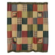 Tea Cabin Shower Curtain Patchwork 72x72