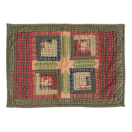 Tea Cabin Placemat Quilted Set of 6 12x18