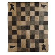 Kettle Grove Throw Crow and Star 60x50