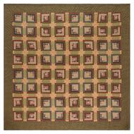 Tea Cabin Twin Quilt 90x70