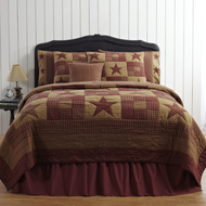 Ninepatch Star Luxury King Quilt 105x120
