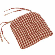 "Heritage House Check 16"" x 16"" Barn Red - Nutmeg"