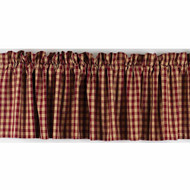"""Heritage House Check 72"""" x 15.5"""" Barn Red - Nutmeg"""