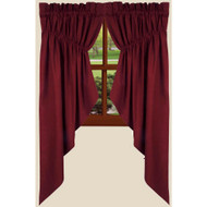 "Farm House Solid 72"" x 63"" (2 pcs) Barn Red"