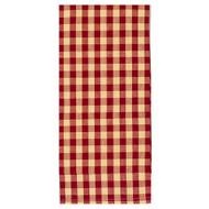 """Heritage House Check 18"""" x 28"""" Barn Red - Nutmeg"""