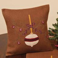 "Happy Christmas 14"" x 14"" Brown"