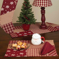 """Patchwork Christmas 14"""" x 18"""" Barn Red"""