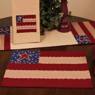 "Stars and Stripes 14"" x 18"" Nutmeg - Indigo - Barn Red"