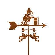 Barrel Racer Weathervane