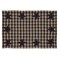 Black Star Placemat Set of 6 12x18