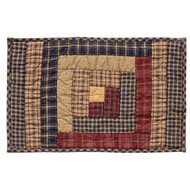 Millsboro Placemat Log Cabin Block Quilted Set of 6 12x18