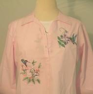 Grandma's Hummingbird 3/4 Sleeve Shirt