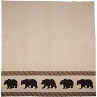 Wyatt Bear Shower Curtain 72x72