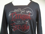 Tinsel in a Tangle 3/4 Sleeve Square Top
