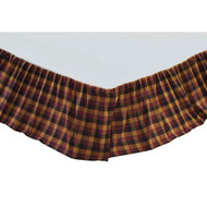 Primitive Check Queen Bed Skirt 60x80x16