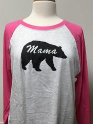 Mama Bear Raglan 3/4 Sleeve Top
