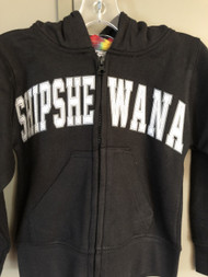 Black Shipshe Zip Hoodie (Youth)