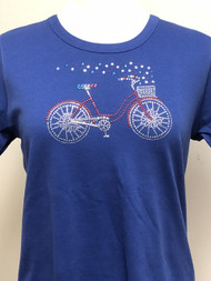 USA Bicycle Scoop Neck Tee