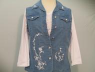 Powder Blue Floral Vest