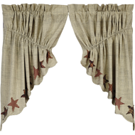 Abilene Star Prairie Swag Set of 2 36x36x18
