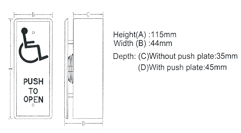 Handicap Stainless Steel Exit Push Plate Vg Pb26 Ask