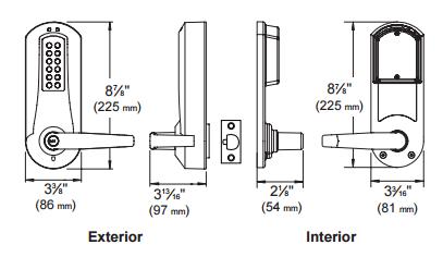 Kaba E-Plex E5000 Series E5031XSWL K-I-L Kaba Cylinder