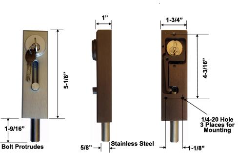 Progressive Hardware Revolving Door Lock With Cylinder