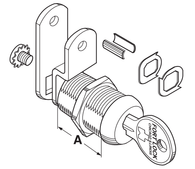 Compx Fort MFW23038 Single Bitted Cam Lock 3/8""