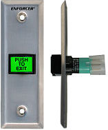 Seco-Larm SD-7103GC-PEQ Enforcer Slimline LED-Illuminated Push-to-Exit Narrow
