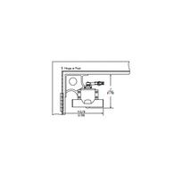 Norton #2-B/F Standard Drop Corner Bracket