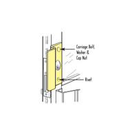 Don-Jo OLP-2650-SL Center Hung Outswinging Latch Protector