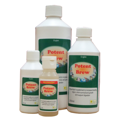 Unique liquid supplement to increase breeding vigour, chick survival, chick growth and support digestion.