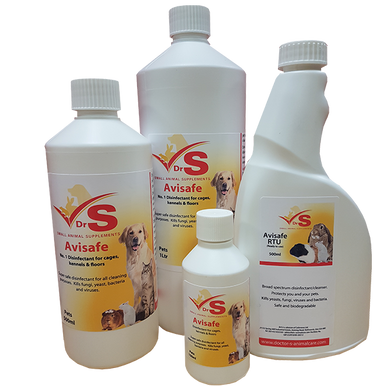 Avisafe is a broad spectrum disinfectant/cleanser. It is designed to protect you and your pets by killing yeasts, fungi, viruses and bacteria both in and around their enclosure.