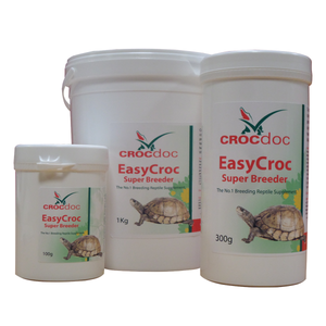 The No.1 breeding reptile supplement.  CrocDoc EasyCroc Super Breeder is the most comprehensive vitamin & mineral breeding product for reptiles in the world. EasyCroc contains all the things that reptiles need for health and well being. It is also a secret natural VIAGRA.